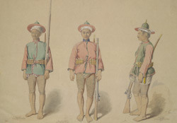 Three Burmese Infantry Soldiers